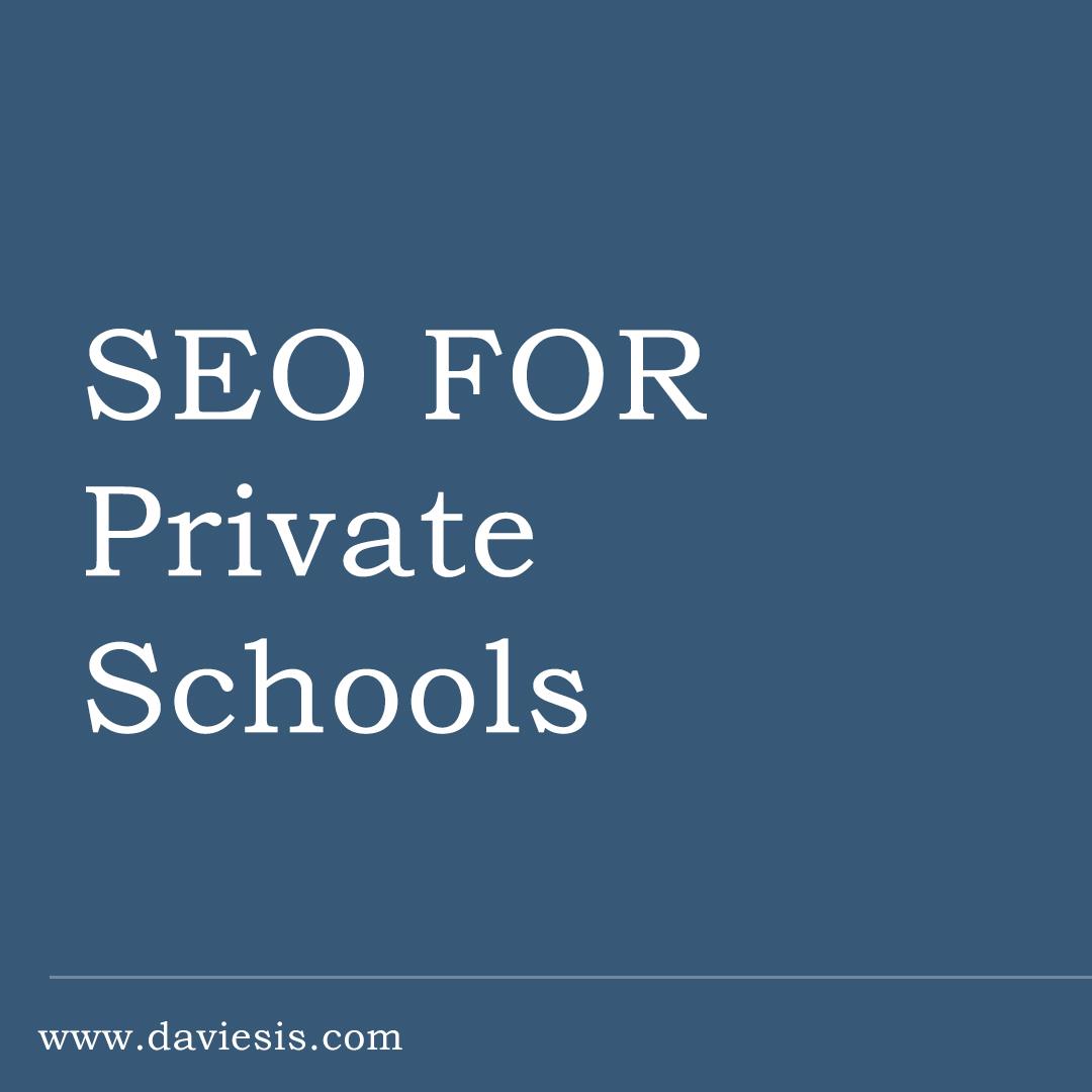 SEO for Private Schools