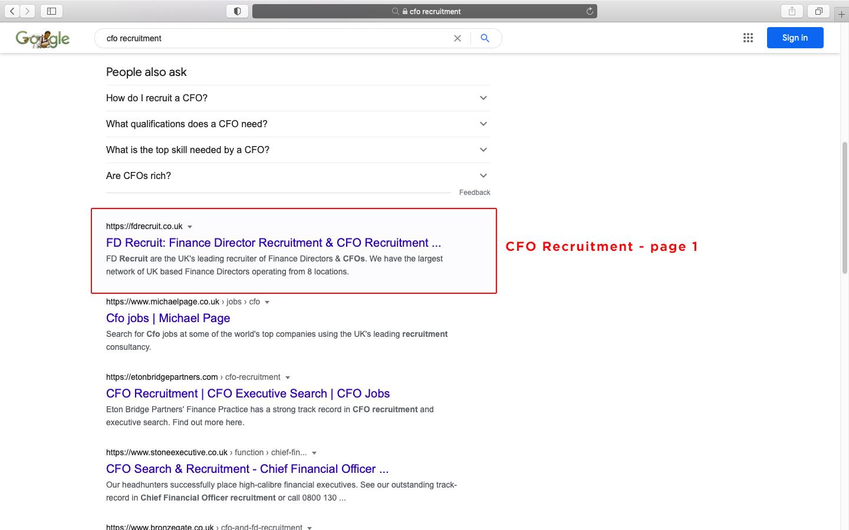 CFO Recruitment - page 1