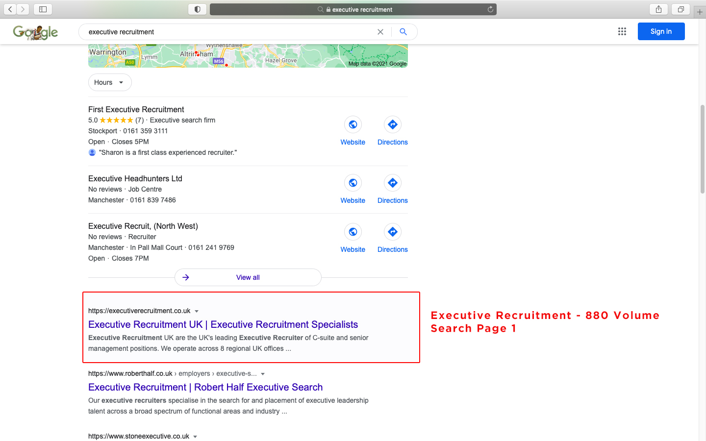 Executive Recruitment 1000 Volume Search Page 1