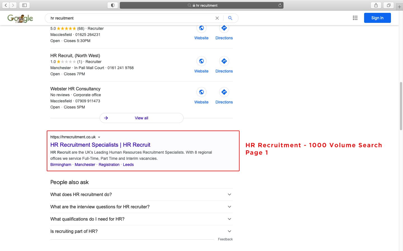 HR Recruitment 1000 Volume Search Page 1