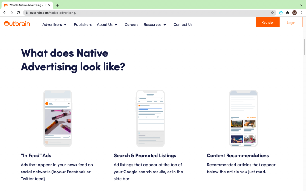 Outbrain Native Ads